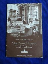 How To Make And Use Slip Covers, Draperies And Curtains Booklet Simpsons Sears