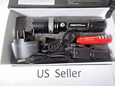 ON SALE 800 LM 50W LED rechargable Torch Zoomable flashlight 18650+charger S760