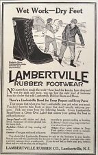 1918 AD(XX37)~LAMBERTVILLE RUBBER CO. NJ. RUBBER BOOTS AND SHOES