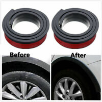 2X Universal rubber wheel car fender wide eyebrow wheel arch black 5.5cm*1.5m