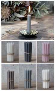 French Vintage Style Candlestick Holder PLUS Set of 6 Short Thin Taper Candles