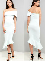 ASOS NEW Occasion Wedding Going Out Party Casual Maxi Midi Dress in Blue 8 to 18
