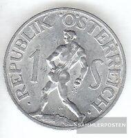 Österreich KM-Nr. : 2871 1947 vorzüglich Aluminium 1947 1 Schilling Adler