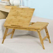 SoBuy® 100% bambou naturelle,Table de lit pliable pour PC portable,iPad,FBT04 FR