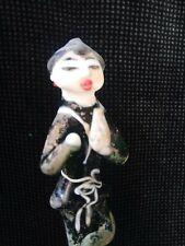 YOGA antike Glasskulptur musizierender Yogi Glas Skulptur Musik IIi
