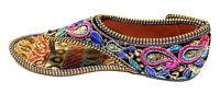 Women Mojari Sandals Traditional Punjabi Jutti Slippers US style Shoe Flip Flops