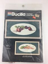 "Brucilla Counted Cross Stitch Kit Model 40306 ""Beets"" 4"" x 9"" Made in USA NEW"