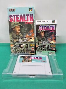 SNES - STEALTH - Boxed. Can save. Super Famicom. Japan Game. 13062
