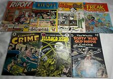 Lot 7 Underground Comic Books Mickey Rat Rip Off Freak Brothers Forty Yr Hippie