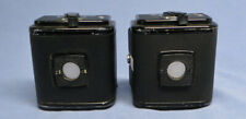 Pair of Vintage Hasselblad A12 6x6 Roll Film Back Holders w/Inserts & Slides
