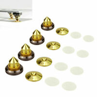 4pcs Speaker Spike Pad Base AMP CD Audio Isolation Cone Stand Feet Brass Home