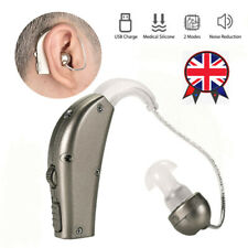 Adjustable USB Rechargeable Digital Hearing Aid Voice Amplifier Behind Ear Sound