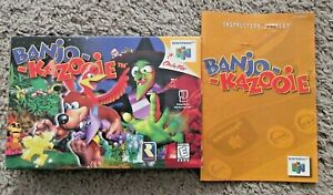 BANJO KAZOOIE NINTENDO 64 AUTHENTIC BOX AND MANUAL ONLY RARE NO GAME OR MANUAL