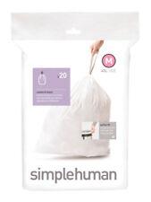 simplehuman Code Custom Fit Liners, Drawstring Trash Bags