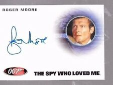 Roger Moore as James bond autograph card Rittenhouse A222