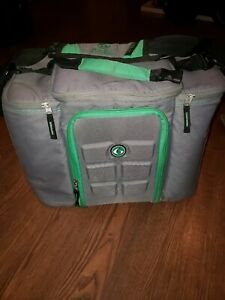 Six Pack Fitness Travel Fit Meal-Prep Bag, Pre-owned grey and lime green