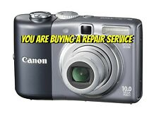 CANON A1000 IS or A1100 IS REPAIR SERVICE-60 DAY WARRANTY-FREE RETURN SHIPPING