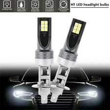 2PCS H1 100W 1000LM H1 Blanco LED Lámpara Faros Kit Car Haz Bombillas 6000k Nuevo
