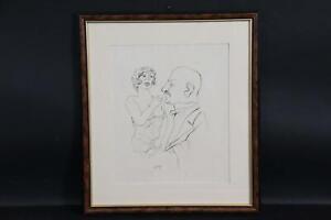 Freier mit Prostituierter Lithografie George GROSZ (1893-1959) (BK4540)
