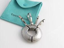 Tiffany & Co RARE Stainless Steel Streamerica Valet Key Ring Key Chain