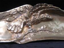 French Art Nouveau Gilded Bronze Desk Pen Tray, Eagle, A. Marionnet, SUPERB