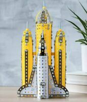 NASA SPACE ROCKET Metal Construction Kit BUILD YOUR OWN 458 pieces Puzzle