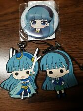 Magic Knight Rayearth Umi Can Badge & Rubber Strap Lot Official Japan Anime Rare