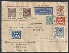 Netherlands covers 1930 Airmailcover to Curacao