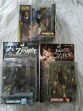 mcfarlane rock figures lot, alice cooper, rob zombie, ac/dc
