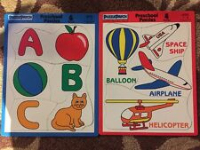 PUZZLE PATCH Set Of 2 Preschool Puzzle Air Transportation & ABC  1-3