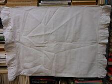 Federa canapa volant M.I.  Hemp pillowcase  taie d'oreiller chanvre 56x79 B8