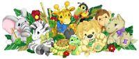 ZOOTLES WALL DECAL BiG Baby Animals Stickers Zebra Elephant Monkey Room Decor