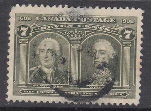 "Canada Scott #100  7 cent Montcalm & Wolfe ""Quebec Tercentenary"""