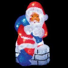 Premier 32 LED Acrylic Santa Claus on a Chimney 32cm Tall Christmas Decoration