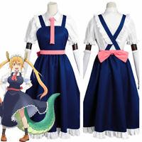 Miss Kobayashi-san Dragon Maid Toru Tohru Cosplay Costume Uniform Dress Shoes