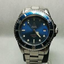 Elgin Vintage Watch INTERNATIONAL Diver 200M FK-531-C Date Automatic wl4223