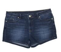Uniqlo Womens Dark Blue Denim Jean Shorts Waist 28 in       2354