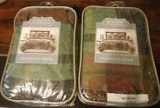 New American Traditions Patchwork Flannel Brown Plaids Standard Pillow Shams Set