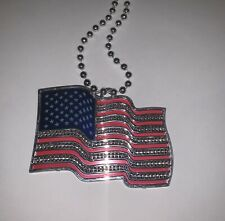 Memorial Day American Flag Necklace