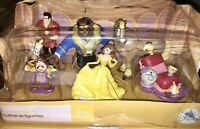 NEW DISNEY Beauty & The Beast Figurine Playset~ From Disney Store 8 in Set  3-4""
