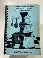 1980 Garland County Extension Homemakers Council Arkansas Spiral-Bound Cookbook