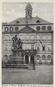 Hanau AK 1934 Rathaus Gebrüder-Grimm Denkmal Hessen 2109108
