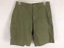 Mens olive green cotton classic fit shorts by Polo Ralph Lauren Size 30 New tags