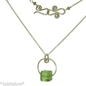 Necker 1-54 ~Square Stone Pendant Necklace with Stone and Metal Choice