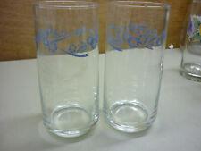 Set of 2 Corelle Cornflower Blue Glasses Tumblers