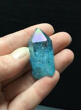 Aqua Aura Quartz Crystal Point 15.3g 40mm Rainbow High Vibration Chakras P3