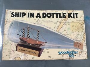 Constitution: Ship In a Bottle Kit Complete New Woodcrafter Kit Model 203 1984
