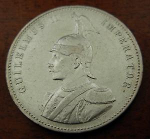 German East Africa 1905 J Silver 1 Rupie Circulated