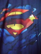 Superman XL blue tshirt. Polyester and cotton