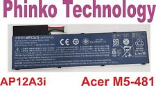 NEW ORIGINAL Battery for Acer Aspire Timeline M3-581TG M5-481TG AP12A3i AP12A4i